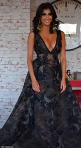 hairstyles for black tie event the bachelor s ebru dallikavak shows off eye popping cleavage at
