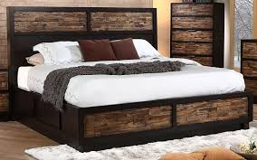 King Storage Platform Bed Outstanding Rustic Cal King Platform Storage Bed Home Design Ideas