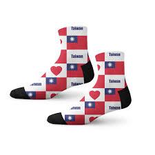 Taiwan Country Flag Taiwan Design A Sock