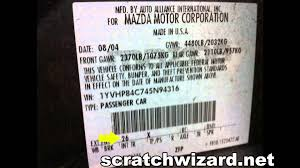 how to find your mazda u0027s paint code youtube