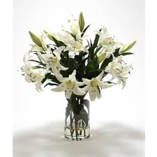 casablanca lilies casablanca lilies in glass vase free shipping in usa 1001shops