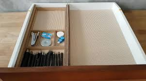 Desk Drawer Organizer Diy Desk Drawer Organizer With Sliding Trays From Cardboard Box