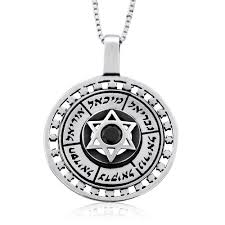 necklace store names images Angels names protection with star of david onyx stone necklace jpg