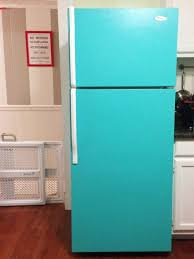 how to make your fridge look like a cabinet diy painted refrigerator paint refrigerator refrigerator and retro