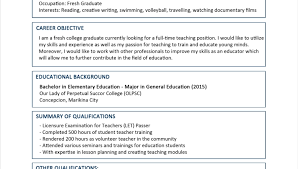 resume for college graduates sample resume for fresh graduate without work experience