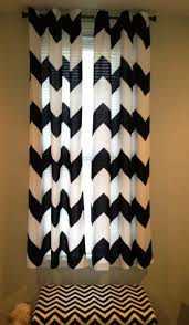 interior design diy chevron curtains in white and green theme