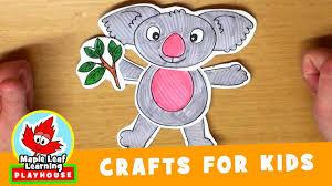 koala craft for kids maple leaf learning playhouse youtube