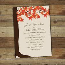 cheap fall wedding invitations maple tree fall wedding invitations ewi251 as low as 0 94