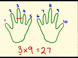 how to teach times tables nine times table tricks learn the fast way youtube