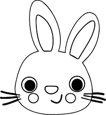 bunny face coloring wecoloringpage