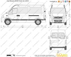 opel movano 2008 the blueprints com vector drawing opel movano mwb panel van