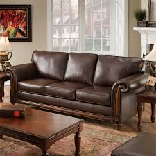 Living Rooms With Brown Leather Furniture Belham Living Owen Leather Sofa Hayneedle