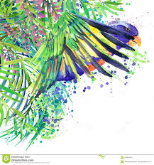 Forest Green by Tropical Exotic Forest Green Leaves Wildlife Parrot Bird