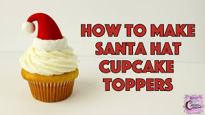 santa hat cupcake toppers fun how to youtube