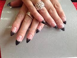 eye candy nails u0026 training acrylic nails with black gel polish