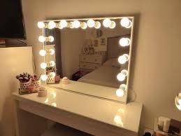 Ikea Bedroom Vanity Vanities Makeup Mirror With Lights Around It Ikea Diy Vanity