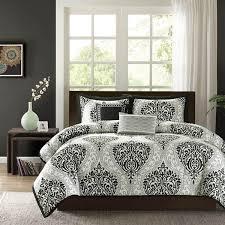 shop intelligent design senna black u0026 white damask collection