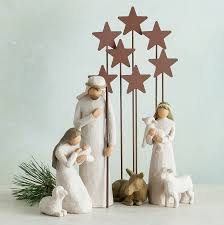 Home Interior Angel Figurines Amazon Com Willow Tree Nativity 6 Piece Set Of Figures By Susan