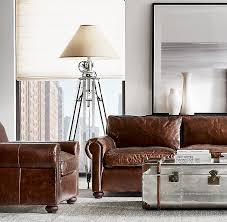 Lancaster Leather Sofa Restoration Hardware Lancaster Sofa Dimensions Okaycreations Net