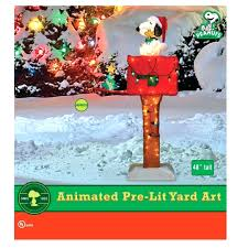 Snoopy Outdoor Christmas Decorations Lighted Snoopy Mailbox Outdoor Christmas Decoration Tags Snoopy