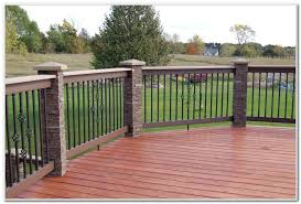 faux stone deck post covers decks home decorating ideas
