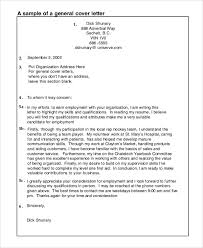 sample general cover letters generic cover letters general resume cover letter