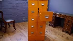 Yellow Metal Filing Cabinet Vintage Retro Industrial 10 Drawer 1960 Sankey Sheldon Metal