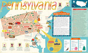 Map Of The 50 States Interesting Maps And Charts U2014 Points Of Interest In Pennsylvania
