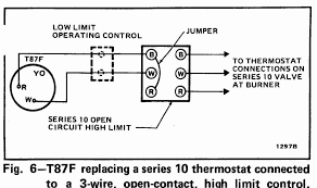 mercury in thermostat honeywell t87f thermostat wiring diagram for