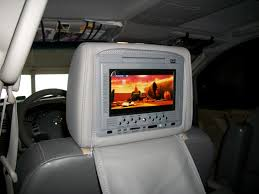nissan armada headrest dvd player headrest monitors aftermarket nissan titan forum