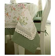Lace Table Overlays Amazon Com Diaidi French Country Tablecloth Dot Floral Table