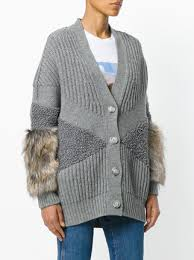 fur sweater stella mccartney fur trimmed cardigan 1 145 buy mobile