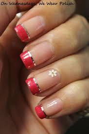 nail art french manicure designs cute nail art best red ideas on