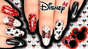 disney mickey u0026 minnie mouse nail art mickey nails dots bows