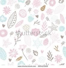 flowers seamless pattern element vector background flower background baby seamless pattern spring stock vector