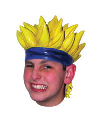 yellow anime latex wig boys halloween costumes