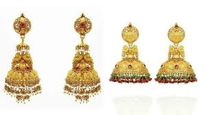 gold jhumka earrings design with price gold jhumka designs with weight and price indian