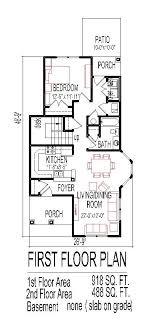 narrow house floor plans crafty ideas tiny house plans narrow lot 13 small home plan three