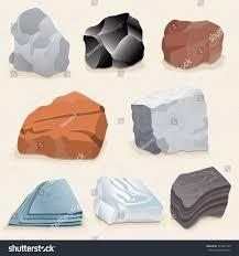 Types Of Rocks Vector Drawing Various Rockstypes Rockeasy Edit Stock Vector