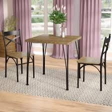 chair for dining room 3 piece kitchen dining room sets you ll love wayfair