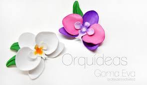 flores de foamy brotes de creatividad orquídeas de goma eva foamy