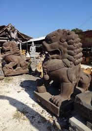 foo lions for sale sold large pair of foo dog shishi lions 84 77ls100 hindu