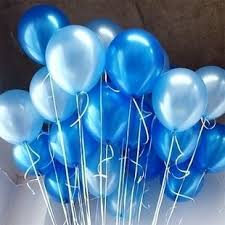 10 inch blue u0026 light blue party balloons for party decoration 100