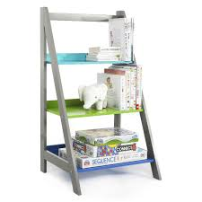 tot tutors elements grey bookshelf storage tower toys