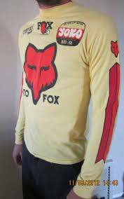 motocross gear ebay vintage moto x fox jersey on ebay moto related motocross