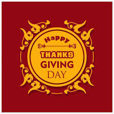 background with a label for the thanksgiving day vector free