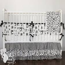 Black And White Crib Bedding Sets And White Owl Gender Neutral Baby Crib Bedding Set