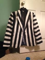 diy beetlejuice jacket i did for this years halloween costume 2