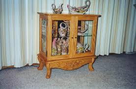 Oak Curio Cabinets Curio Cabinet Diy Oak Curio Cabinet Create Family Heirloom