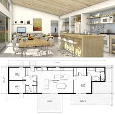 small one story house plans inside this one story freegreen home you ll find a great room